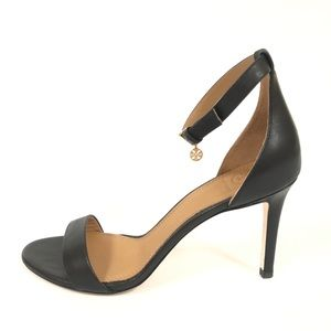 Tory Burch  Ellie Black Leather Ankle Strap Sandal